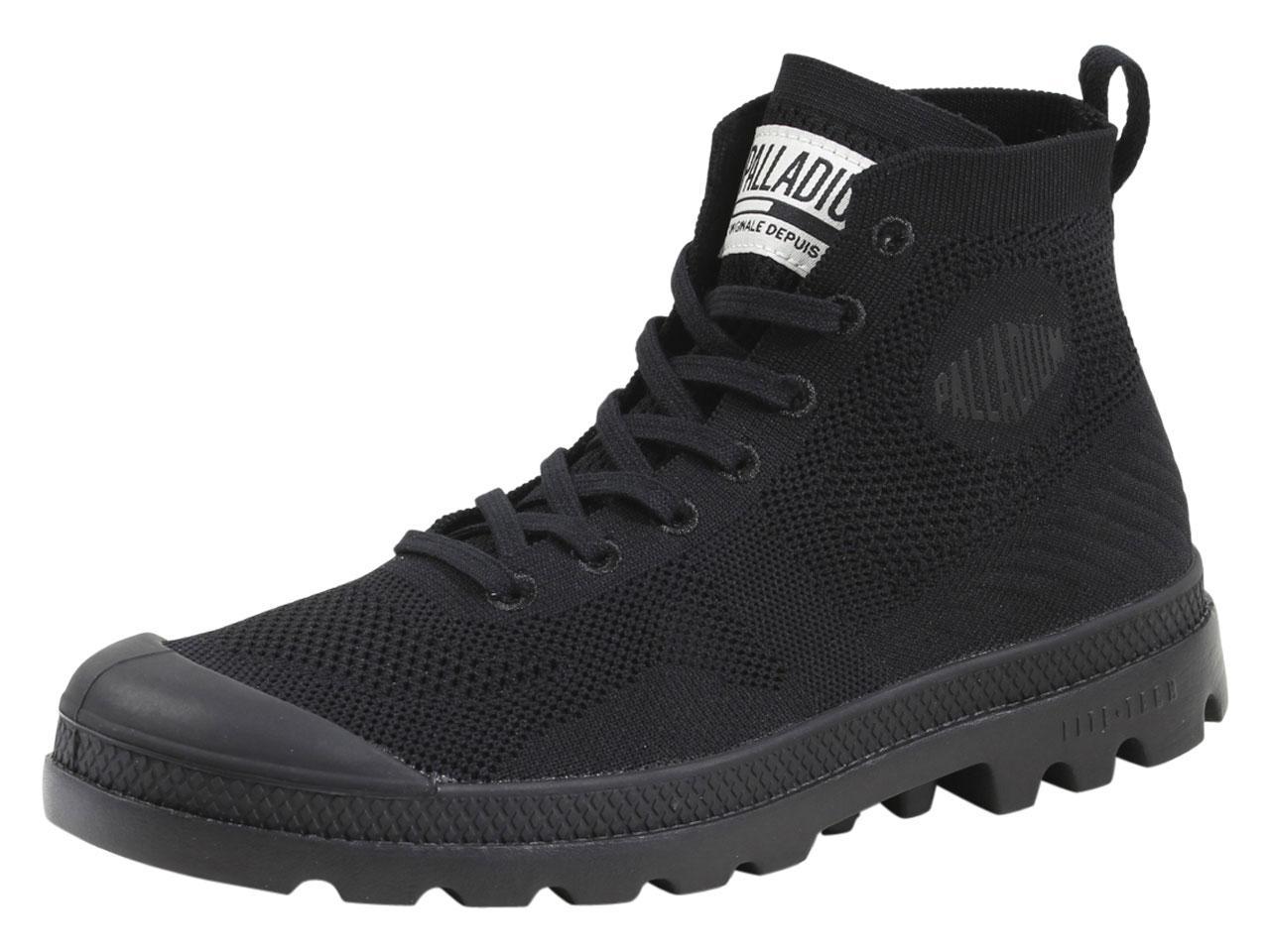 Image of Palladium Men's Pampa Hi Lite Knit Boots Shoes - Black - 10 D(M) US/11.5 B(M) US