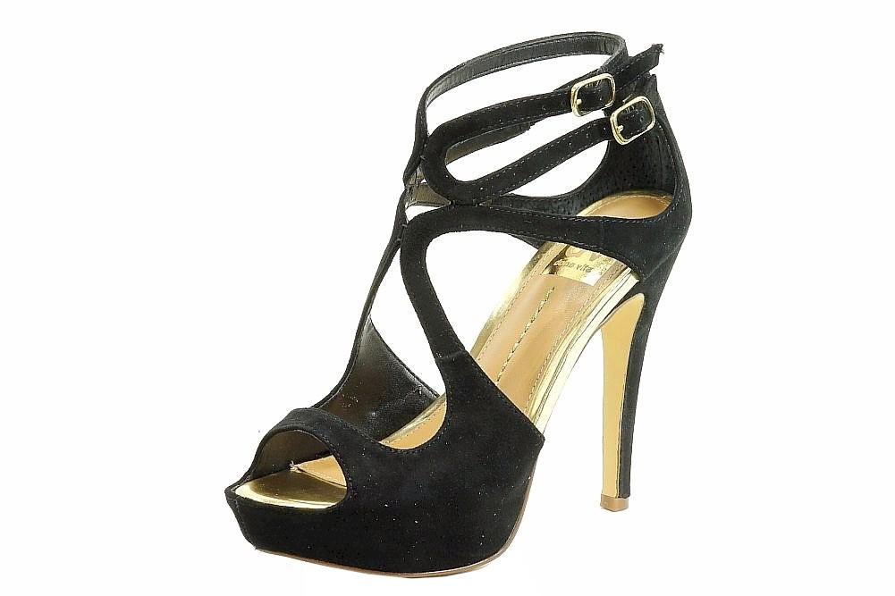 Image of Dolce Vita Women's Brielle Fashion Stiletto Sandal Shoes - Black - 9.5