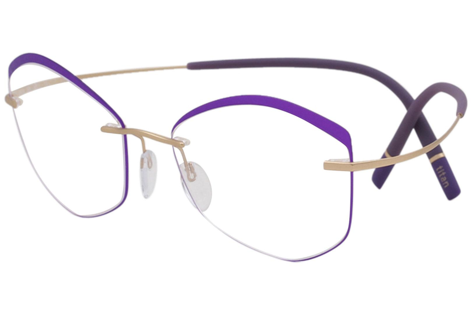 c9bd19f8c9a Silhouette Eyeglasses Titan Minimal Art The Icon Accent Rings 5518 Optical  Frame by Silhouette. Touch to zoom