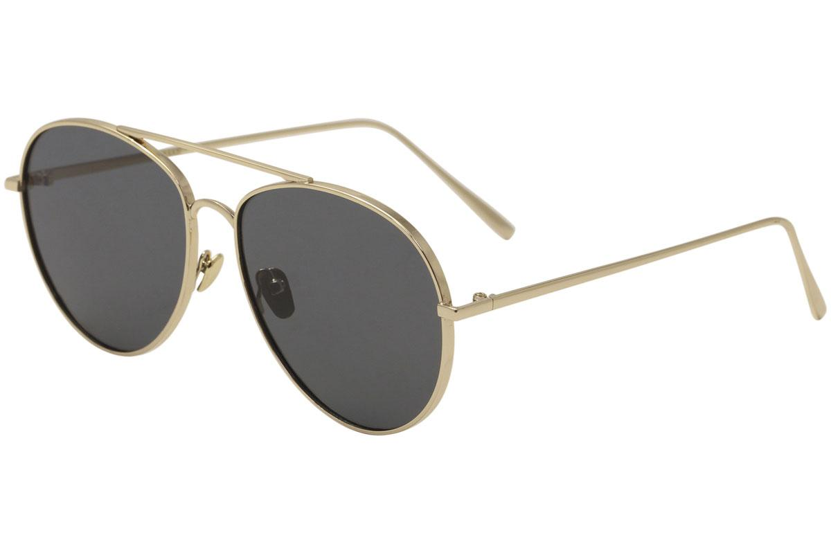 Image of Yaaas! 6669 Fashion Pilot Sunglasses - Gold/Black   A - Lens 58 Bridge 17 Temple 147mm