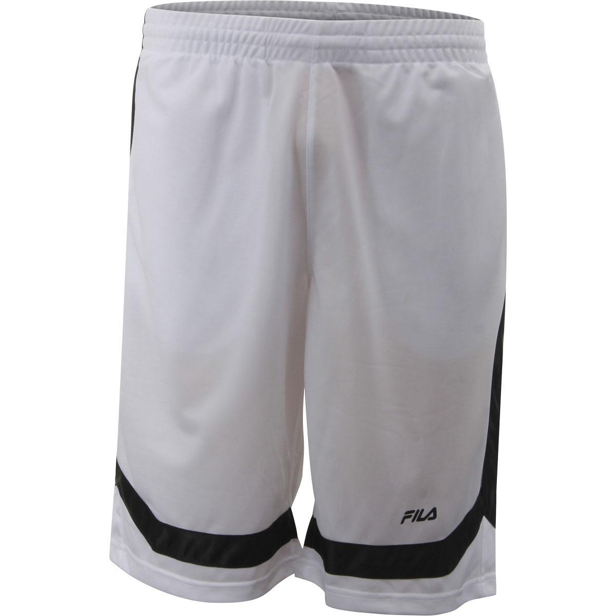 Image of Fila Men's Circuit Drawstring Shorts - White/Black - Large