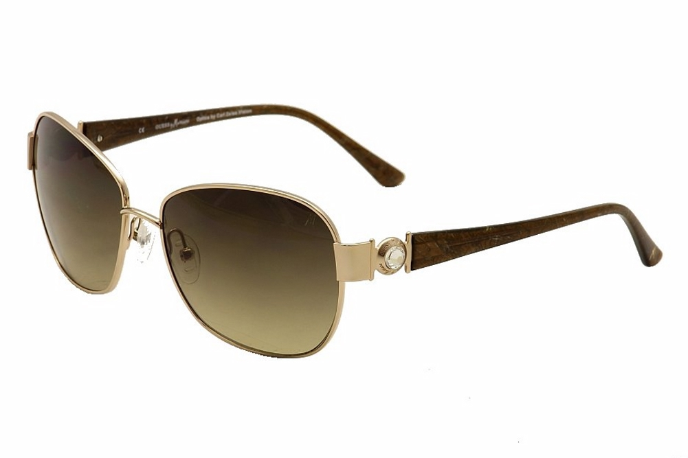 Image of Guess By Marciano Women's GM681 GM/681 Square Sunglasses - Gold - Lens 60 Bridge 16 Temple 135mm