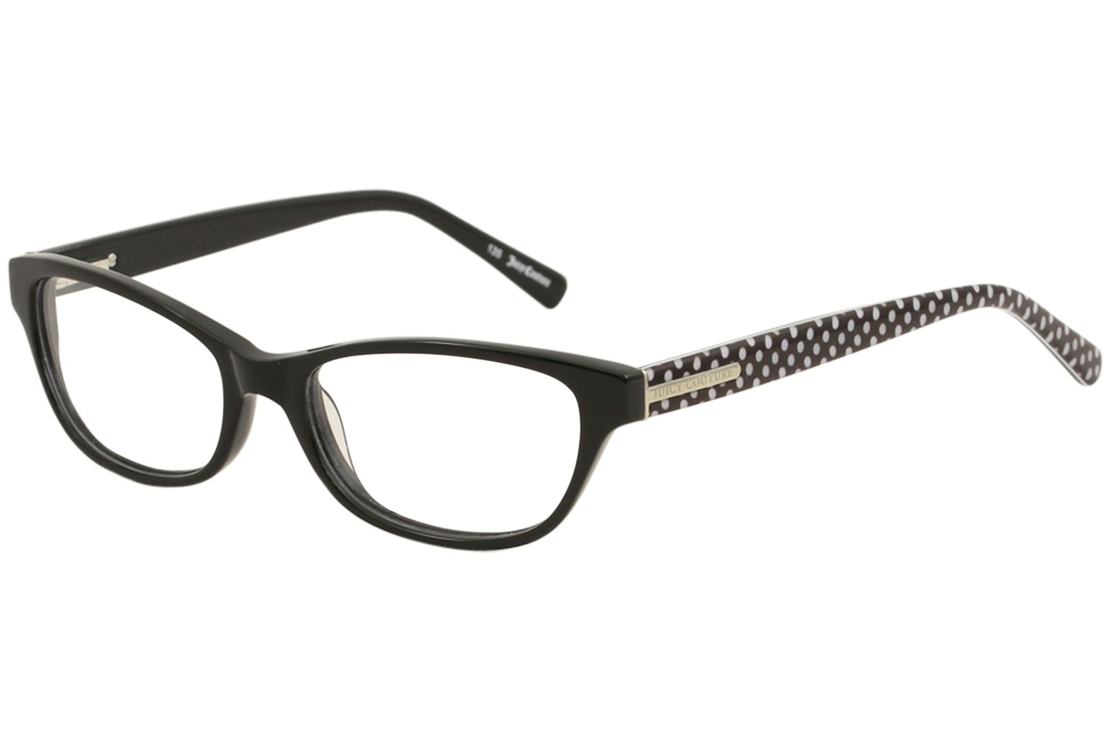 Image of Juicy Couture Women's Eyeglasses JU118 JU/118 Full Rim Optical Frame - Black   0807 - Lens 51 Bridge 16 Temple 135mm