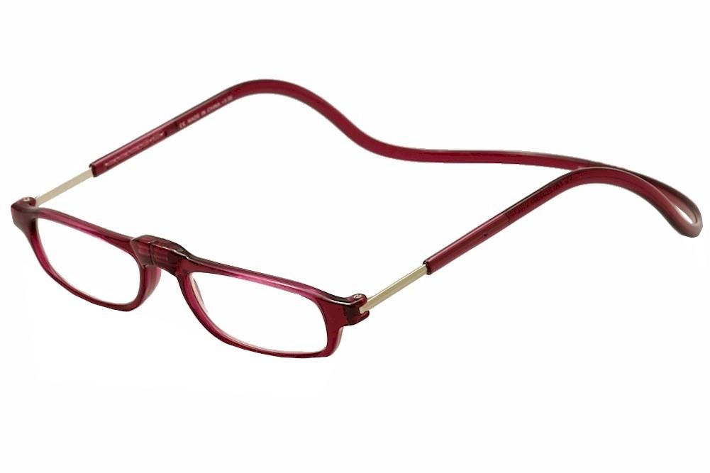 Image of Clic Reader Eyeglasses City Readers Full Rim Magnetic Reading Glasses - Bordeaux - Power +3.00