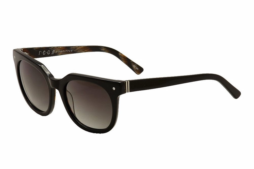 Image of Von Zipper Wooster VonZipper Fashion Sunglasses - Black Gloss/Vintage Grey