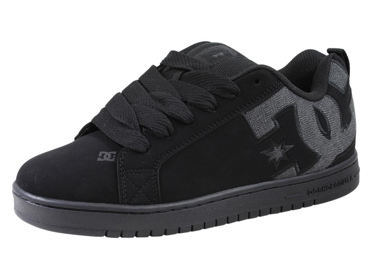 Image of DC Men's Court Graffik SE Skateboarding Sneakers Shoes - Black - 9 D(M) US