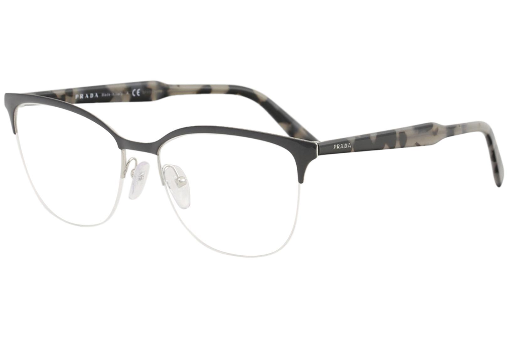 19deba5e6496 Prada Men's Eyeglasses VPR53V VPR/53/V Half Rim Optical Frame