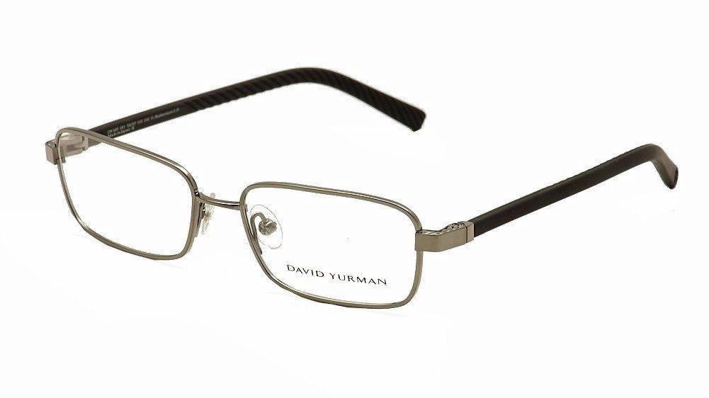 Image of David Yurman Men's Eyeglasses Phantom DY615 DY/615 Optical Frame - Grey - Lens 55 Bridge 17 Temple 135mm