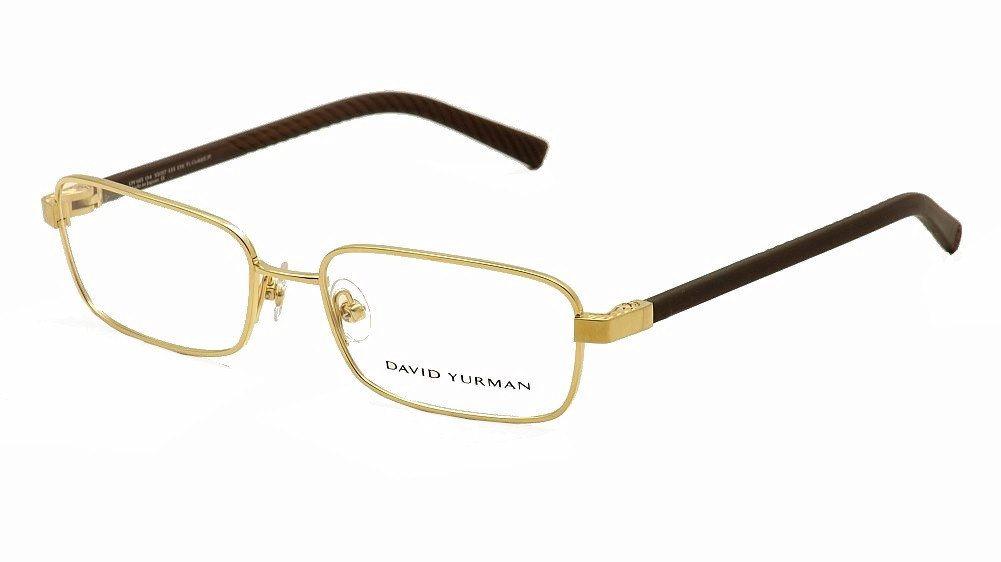Image of David Yurman Men's Eyeglasses Phantom DY615 DY/615 Optical Frame - Gold - Lens 55 Bridge 17 Temple 135mm