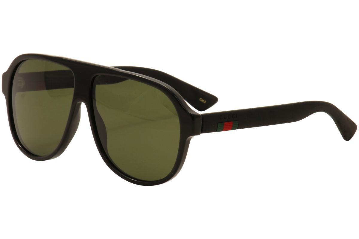 14be72701eb Gucci Men s GG0009S GG 0009 S Retro Fashion Pilot Sunglasses