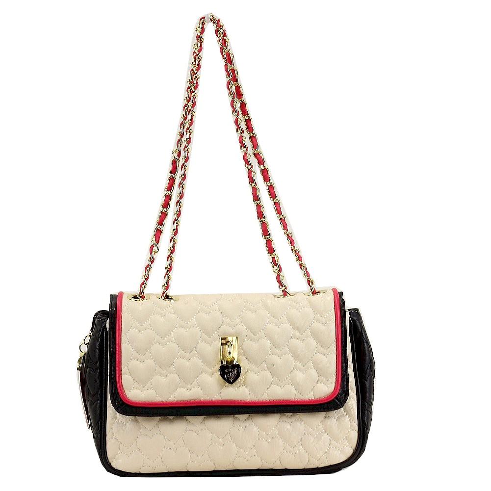 Betsey Johnson Women S Be My Everything Flapover Satchel Handbag