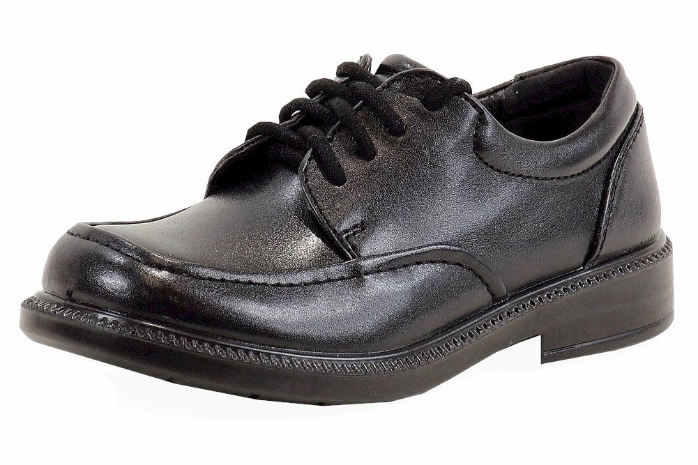 Image of School Issue Boy's Brooklyn Fashion Oxford School Uniform Shoes - Black - 1.5   Little Kid