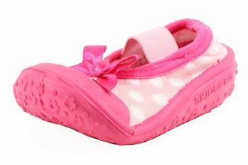 Skidders Infant Toddler Girl's Polka Dot Mary Jane SkidProof Shoes UPC: