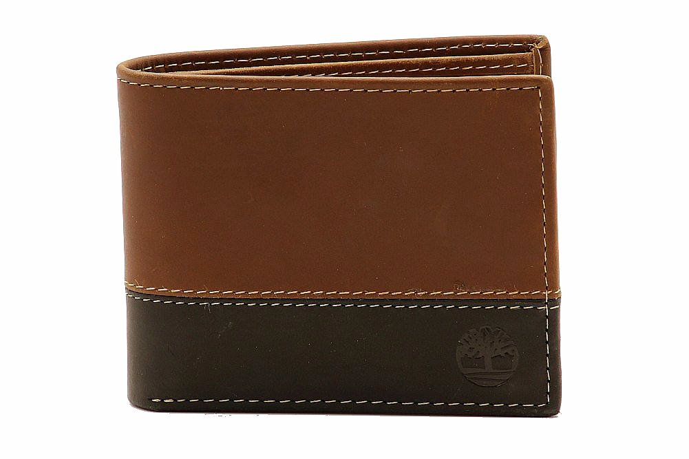 Timberland Mens Commuter Hunter Two Tone D87242 Leather Bi Fold Wallet