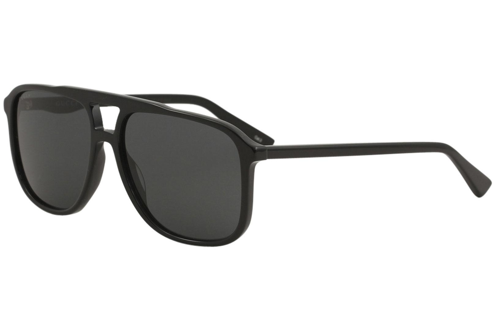 7106185afd2 Details about Gucci Men s GG0262S GG 0262 S 001 Black Grey Pilot Sunglasses  58mm