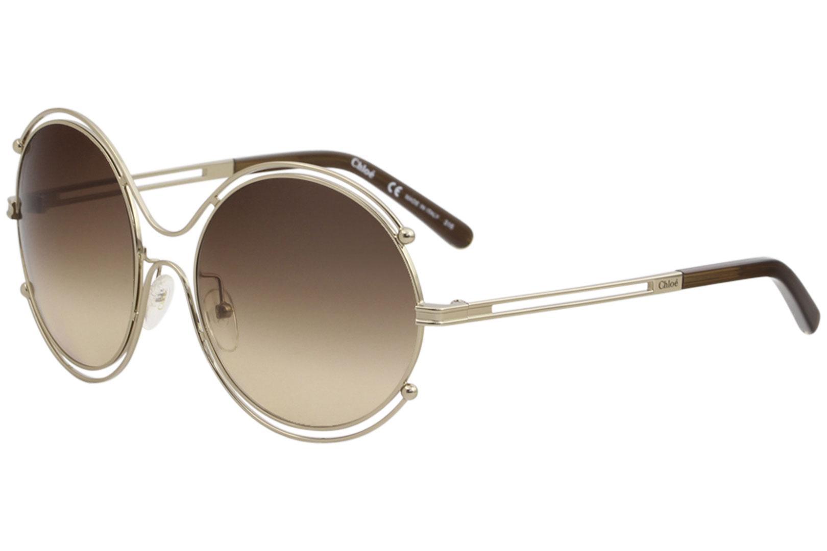 7f5f11bef9b Chloe Women s CE 122S CE122S 786 Rose Gold Fashion Round Sunglasses ...