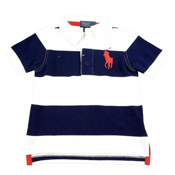 Polo Ralph Lauren Infant Striped Cotton Rugby Short Sleeve T-Shirt  UPC: