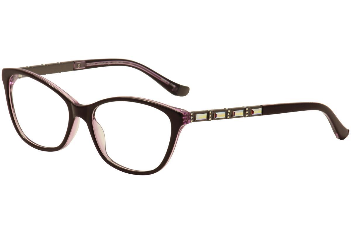 Image of Judith Leiber Couture Women's Universe Eyeglasses Full Rim Optical Frame - Purple -  Lens 54 Bridge 16 Temple 140mm