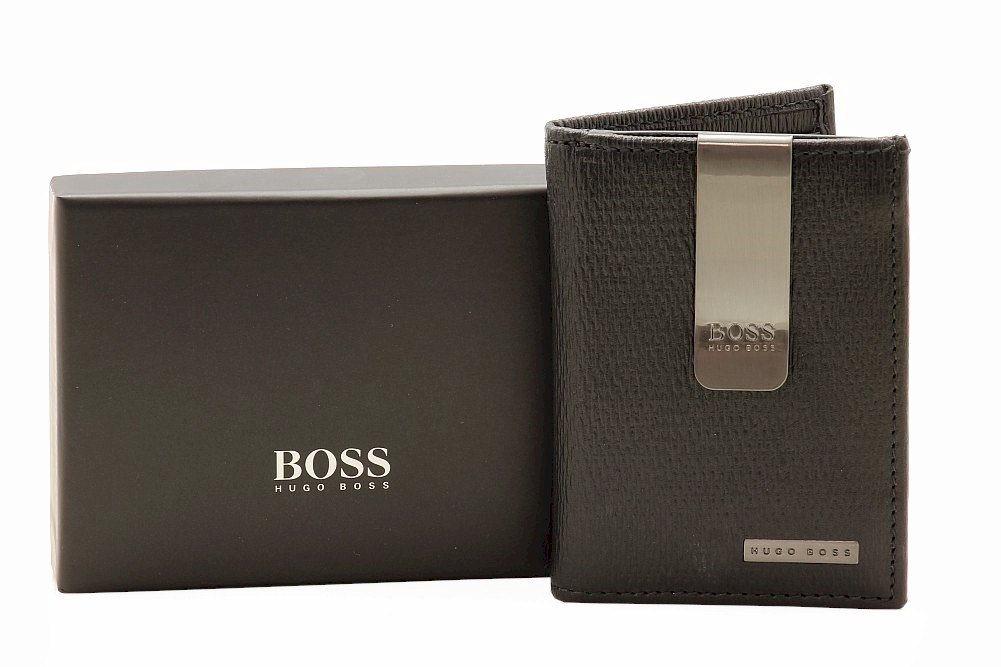 Hugo Boss Men\'s Wisko Leather Bi-Fold Money Clip Wallet