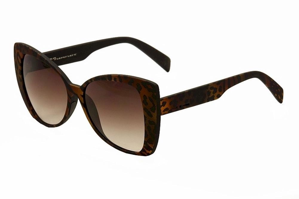 Image of Italia Independent Women's 0904 Cateye Sunglasses - Brown - Lens 55 Bridge 16 Temple 140mm