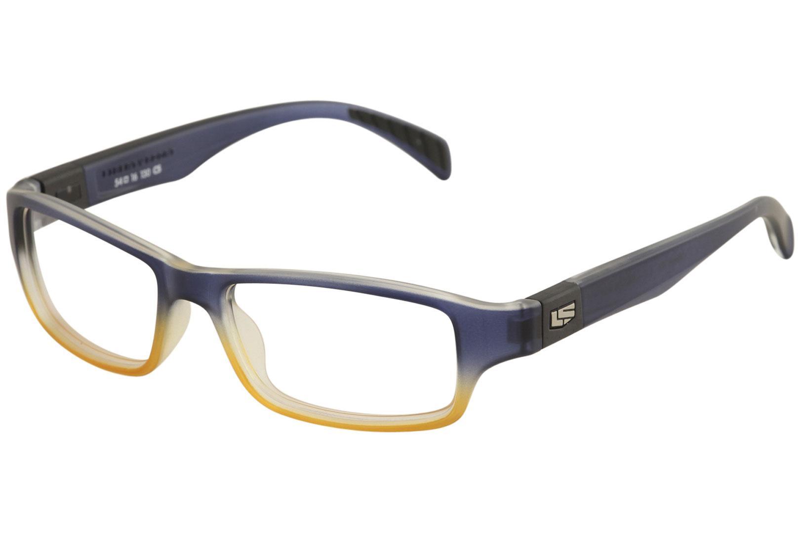 Image of Liberty Sport Men's Eyeglasses X8 200 Full Rim Optical Frame - Blue/Blond   661 - Lens 54 Bridge 16 Temple 130mm