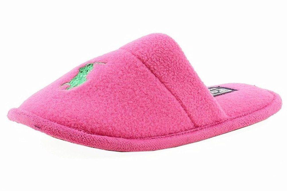 77c14d81 Polo Ralph Lauren Girl's Fleece Lodge Slide Fashion Slipper Shoes