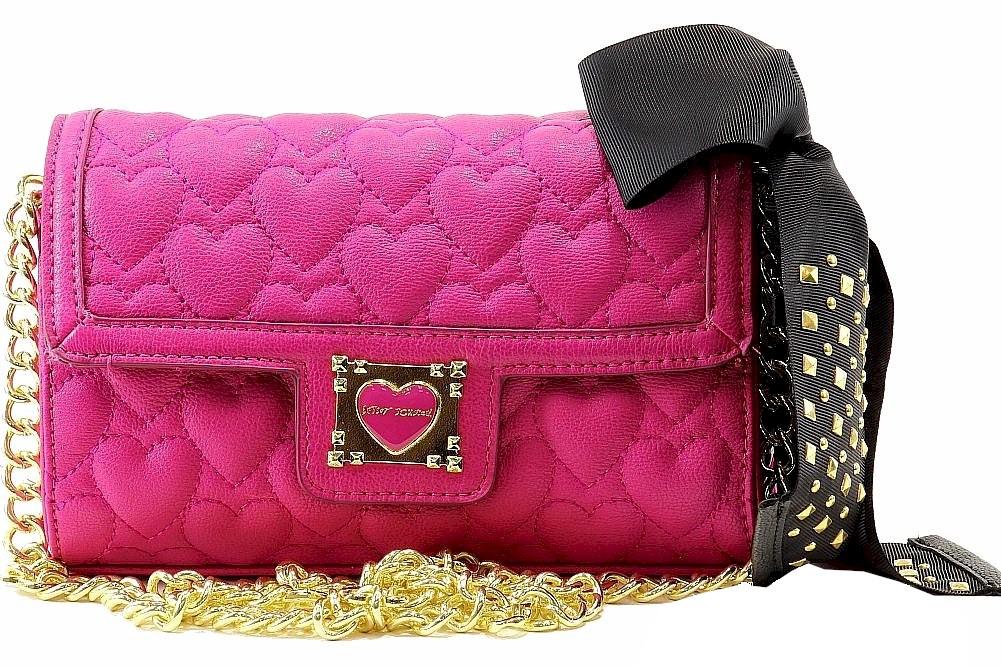 Betsey Johnson Women S Be My Sweetheart Flapover Crossbody Handbag