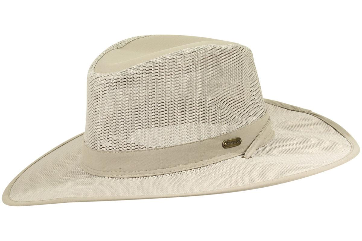 8d5876789aa Stetson Men s No Fly Zone Insect Repellent Big Brim Mesh Traveler Hat
