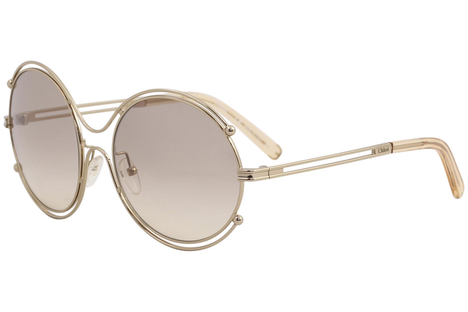 76e36f29df2d3 Chloe Womens CE122S CE   122   S Rose Gold 785 Fashion Round Sunglasses 59mm