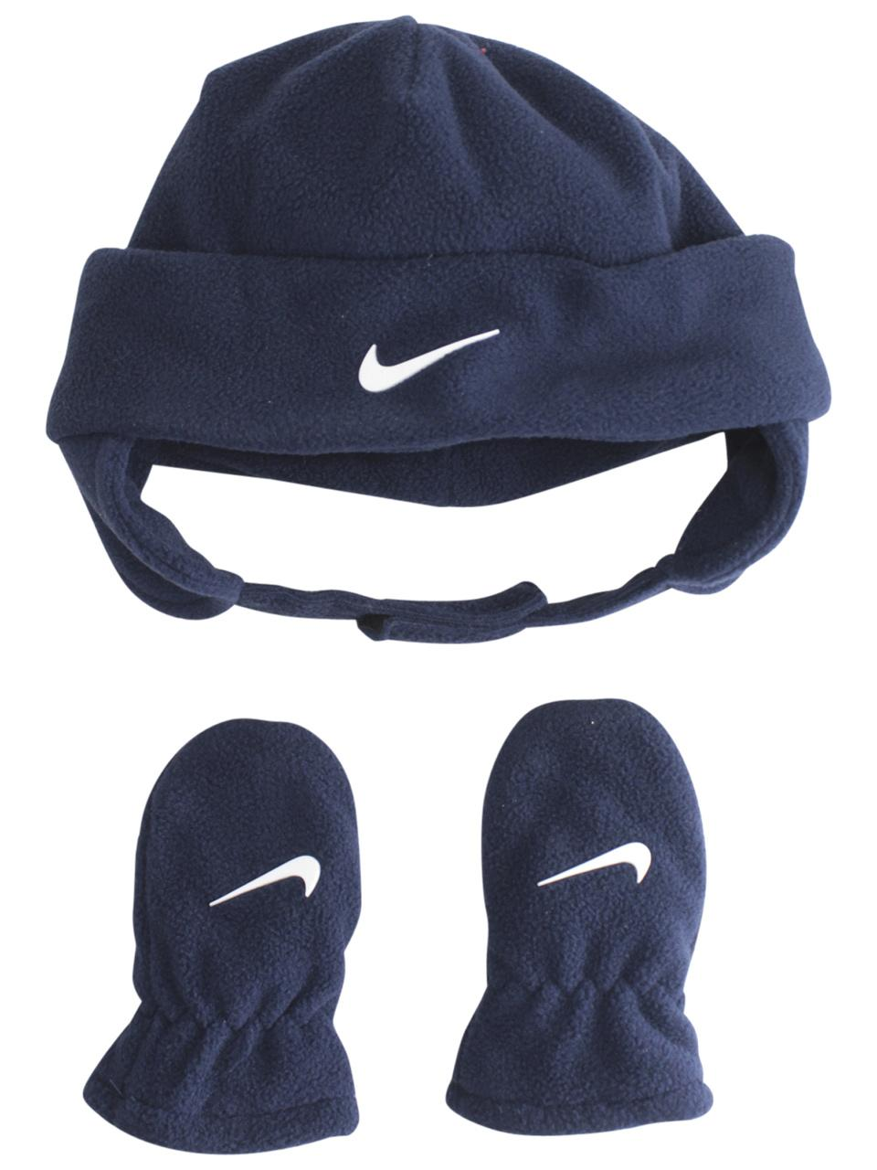 9eeeb87f36e9 Nike Infant Toddler Boy s 2-Piece Swoosh Fleece Hat   Mittens Set