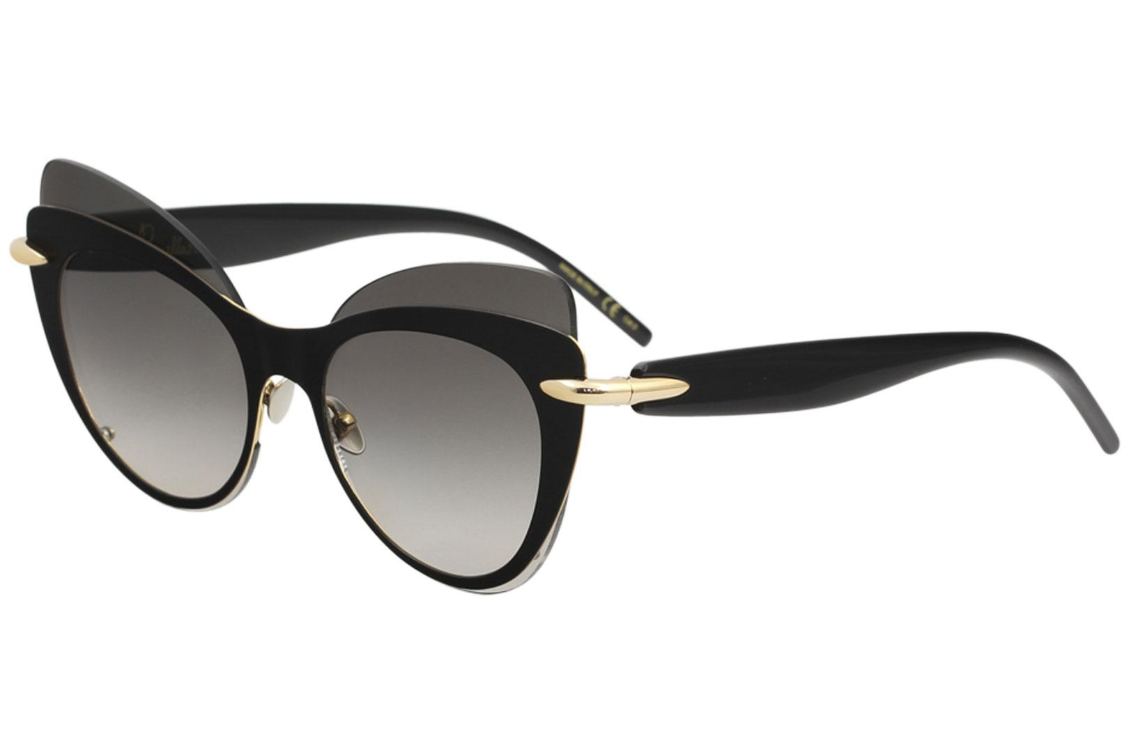 Image of Pomellato Women's Griffe PM0046S PM/0046/S Cat Eye Sunglasses - Black - Lens 60 Bridge 14 Temple 145mm