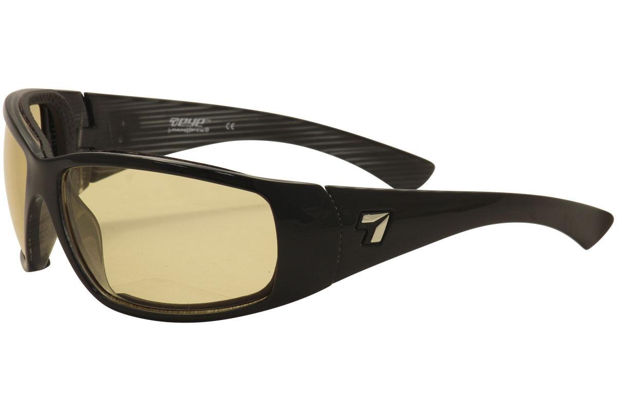 Image of 7Eye Men's Taku Wrap Sport Sunglasses - Black/Photochromic Day Night Contrast   F 5705 - Medium Large
