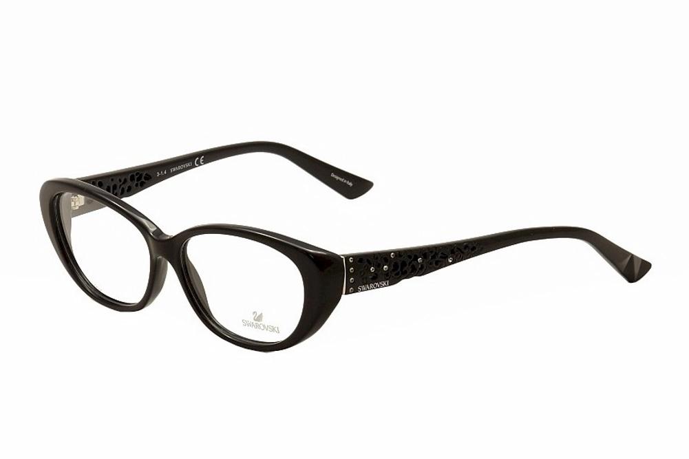 Image of Swarovski Women's Eyeglasses Day SW5083 SW/5083 Full Rim Optical Frame - Black - Lens 54 Bridge 13 Temple 140mm