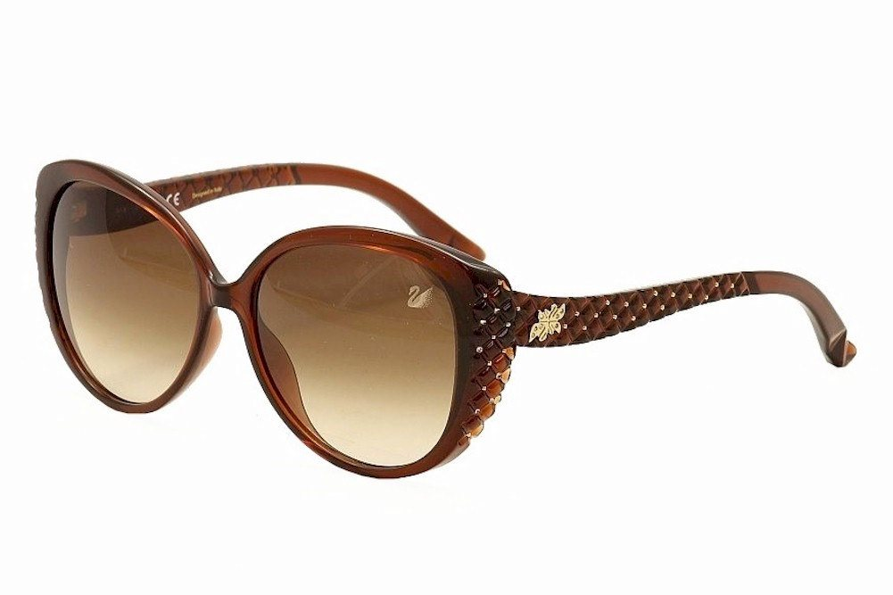 Image of Daniel Swarovski Women's Dana SW68 SW/68 Fashion Sunglasses - Brown - Lens 58 Bridge 15 Temple 140mm