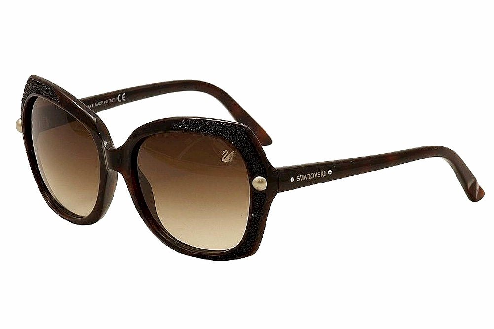 Image of Daniel Swarovski Women's Delight SW62 SW/62 Fashion Sunglasses - Brown - Lens 59 Bridge 17 Temple 140mm