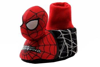 The Amazing Spiderman 2 Boy's SPF231 Plush Fleece Bootie Slippers Shoes  UPC: