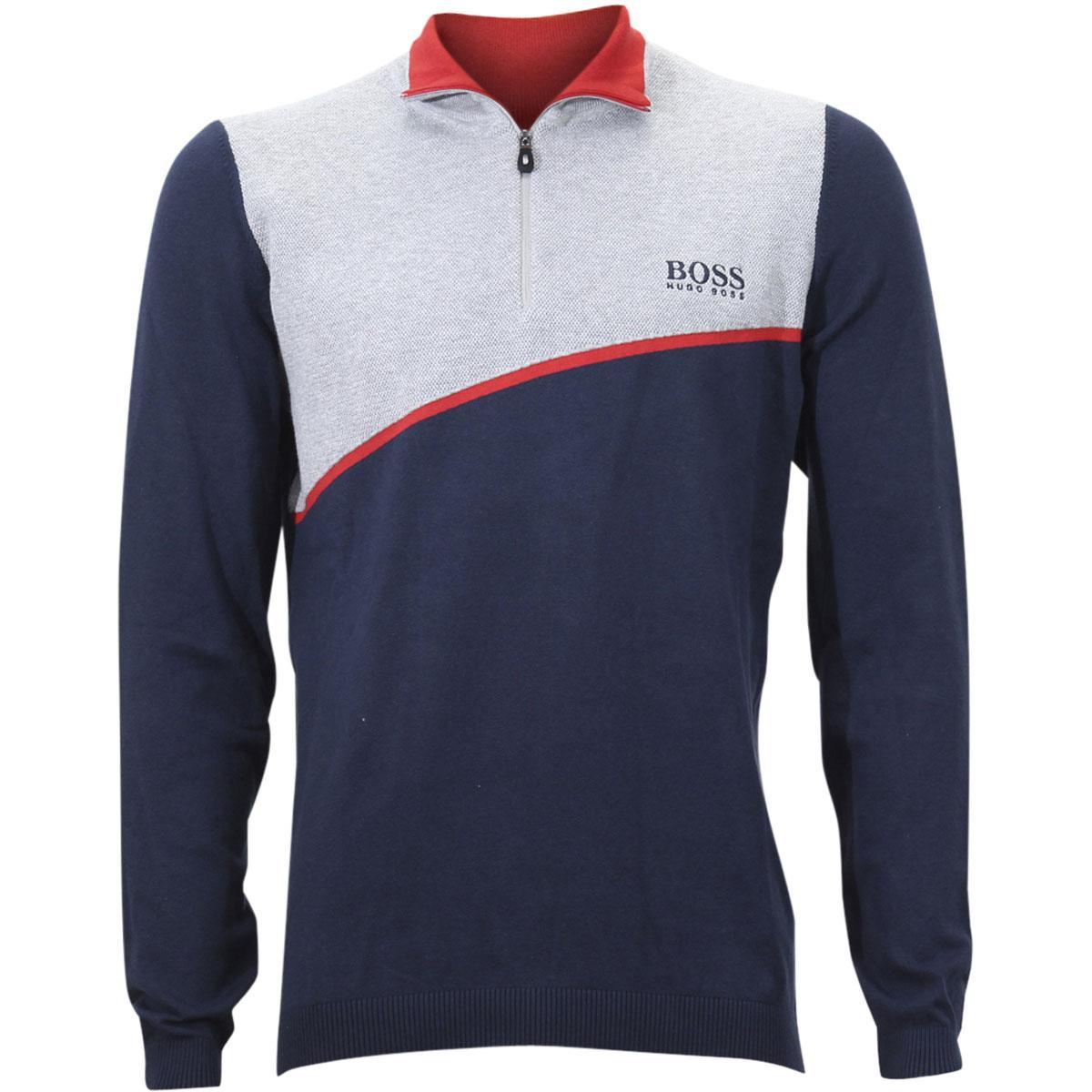 20970d19f Hugo Boss Men's Zymor Long Sleeve Half Zip Sweater