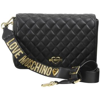Love Moschino Women's Quilted Heart Logo Crossbody Handbag