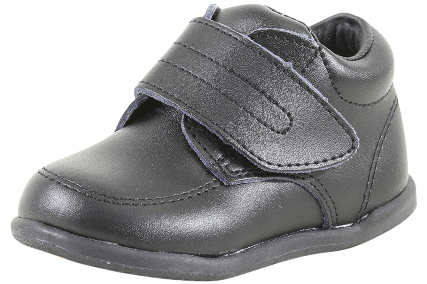Image of Smart Step By Josmo Toddler's First Walkers Oxfords Shoes - Black - 4 M US Toddler