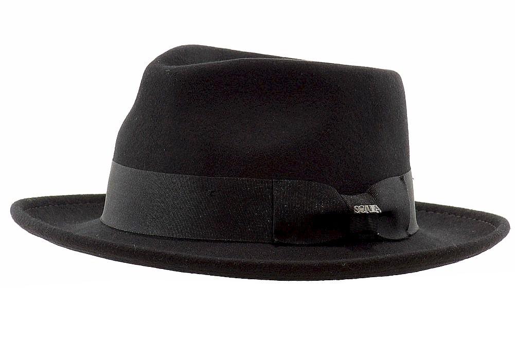 Scala Classico Men s Wool Felt Crushable Fedora Hat 8fbfa32e5f8