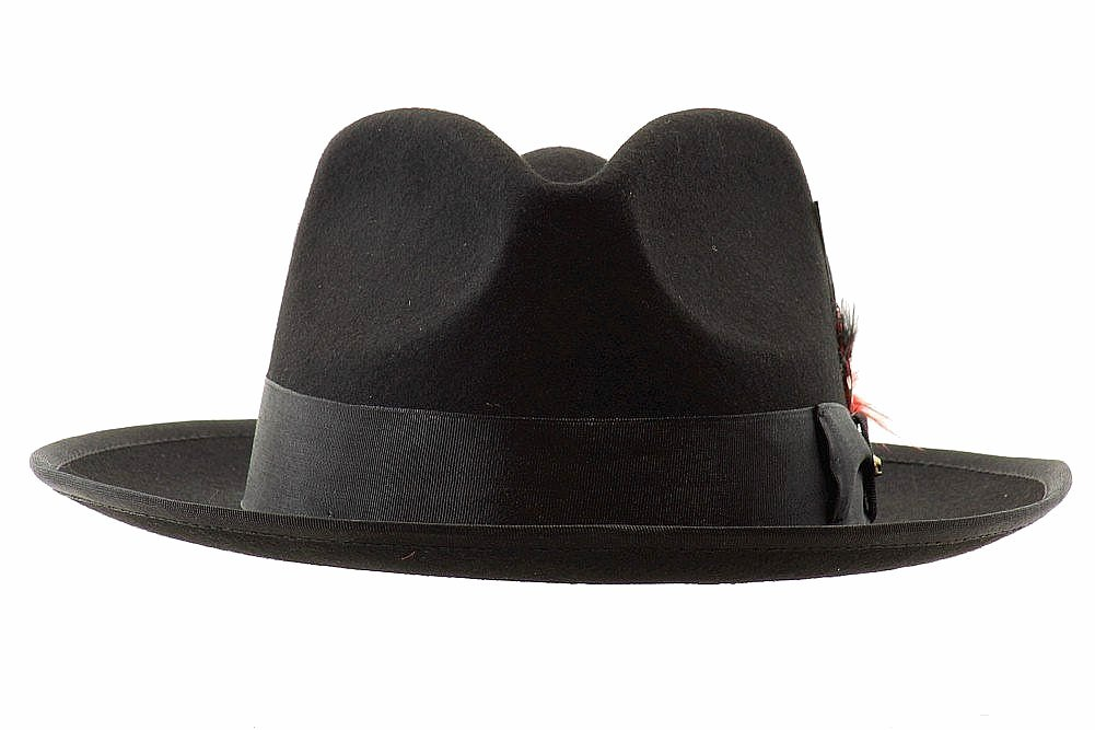 Scala Classico Men s New Yorker Wool Felt Fedora Hat by Scala 7f646a0a32e