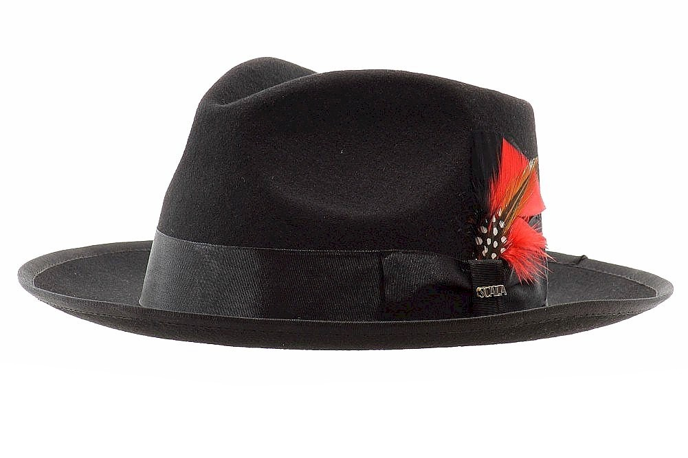 Scala Classico Men s New Yorker Wool Felt Fedora Hat by Scala. Hover to zoom 30920d72d45