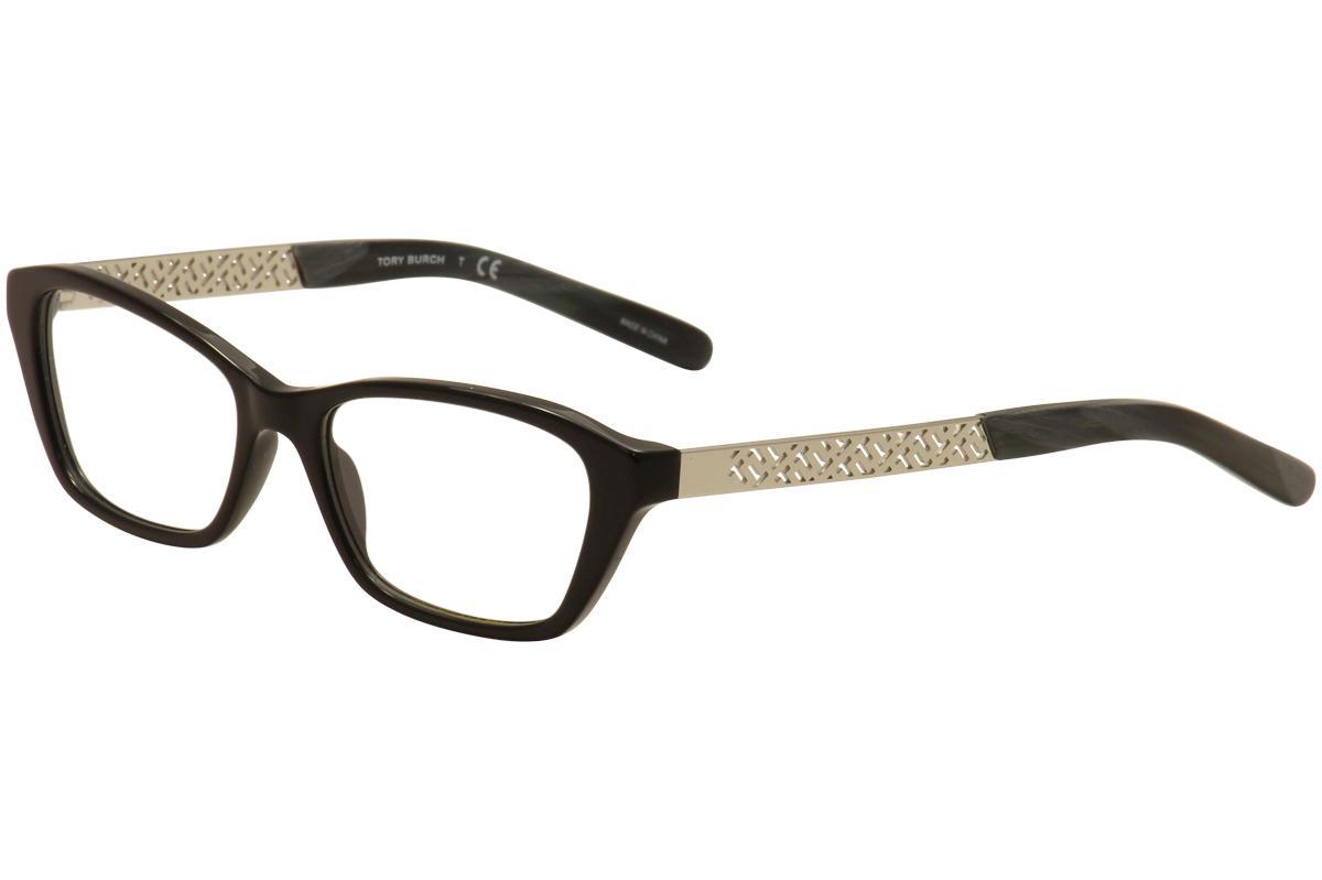 Image of Tory Burch Women's Eyeglasses TY2058 TY/2058 Full Rim Optical Frames - Black/Silver   1390 - Lens 51 Bridge 16 Temple 135mm