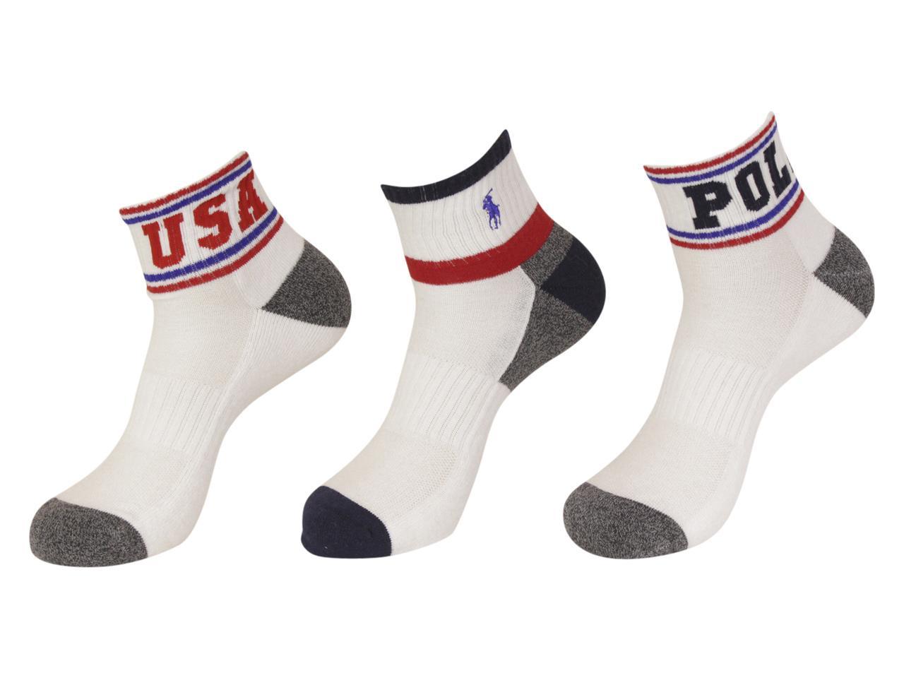 3 Quarter Classic Lauren Sport Polo Crew Socks Men's Ralph Pairs WDYH9E2I
