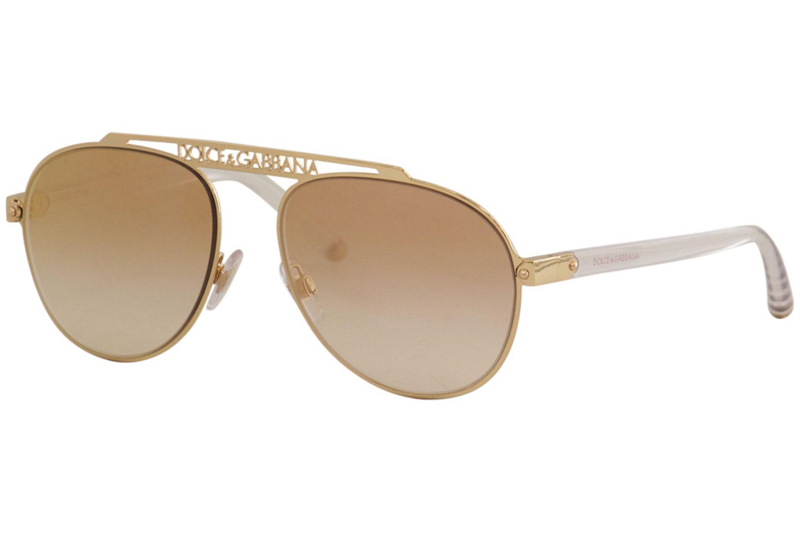 3357a02d6000 Dolce & Gabbana Women's D&G DG2235 DG/2235 Fashion Pilot Sunglasses