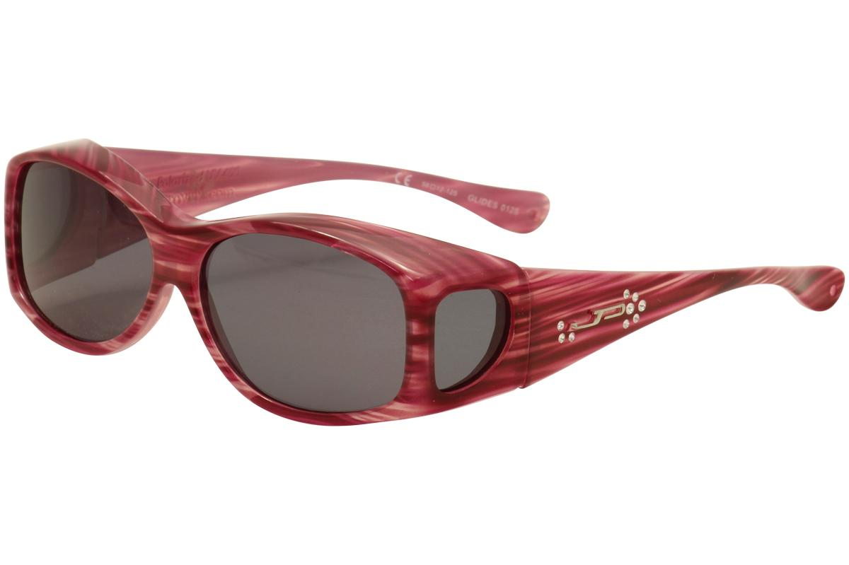 Image of Jonathan Paul Glides G 006A 006/A X Small Fitovers Polarized Sunglasses - Red/Licorice Mirror Polarized - Lens 58 Bridge 12 Temple 125mm