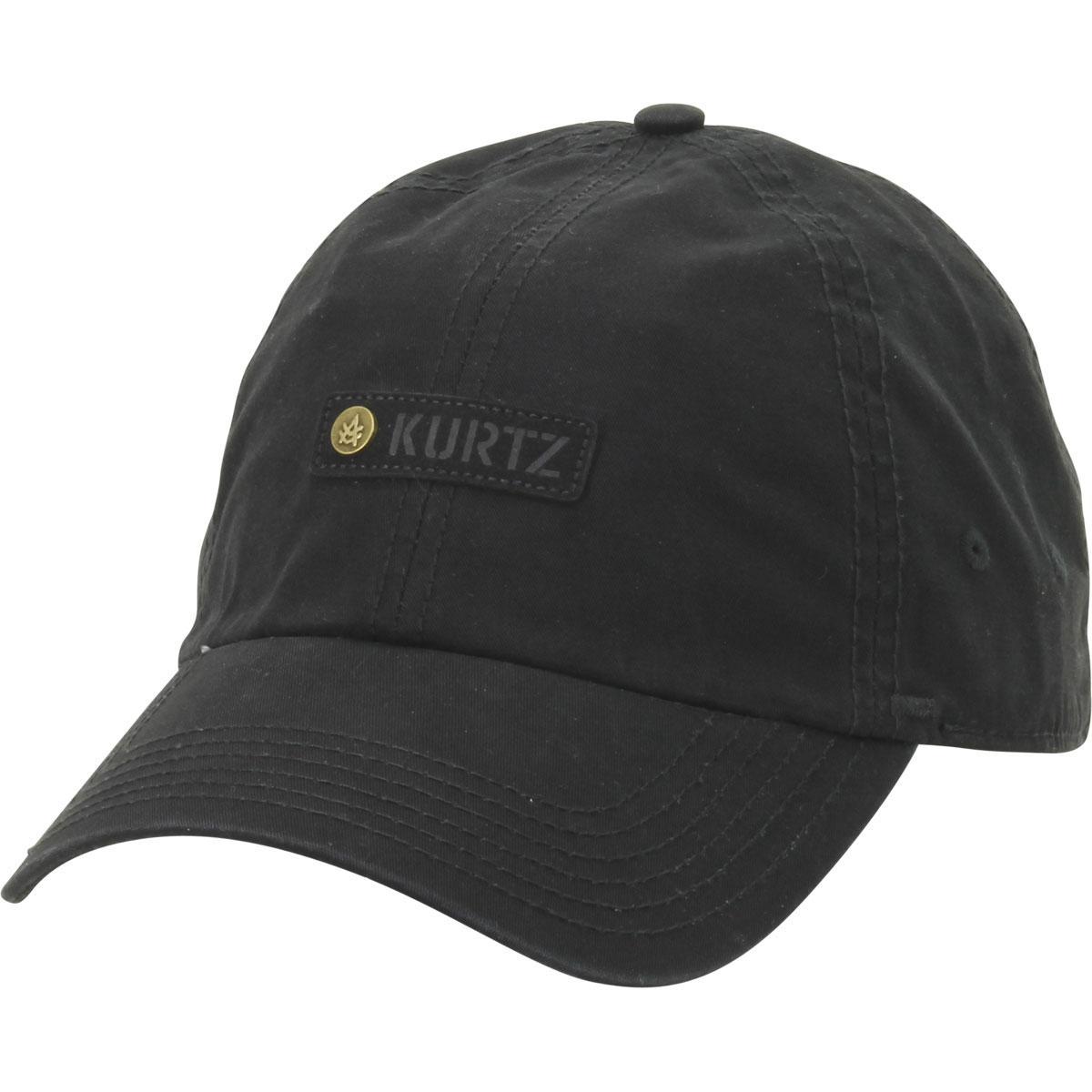 Image of Kurtz Men's Chino Corps Baseball Cap Hat - Black  - One Size Fits Most