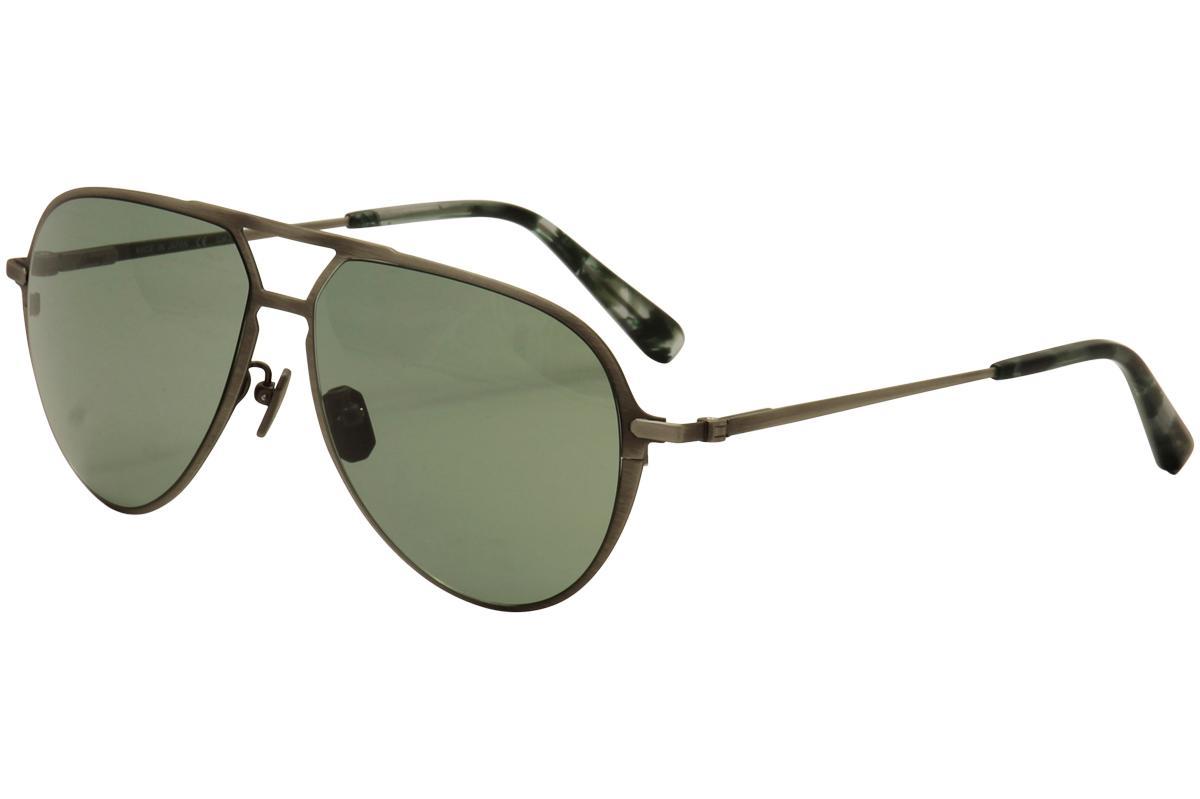 Image of Brioni Men's BR 0011S 0011/S Titanium Aviator Sunglasses - Silver - Lens 59 Bridge 13 Temple 145mm
