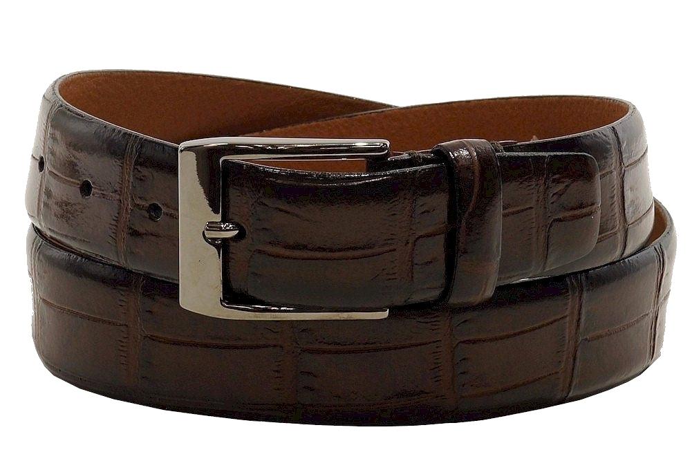 Image of Trafalgar Men's Alessandro Genuine Leather Belt - Brown - 32