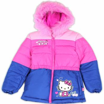 Hello Kitty Toddler Girl's Fur Like Lined Puffer Hooded Winter Jacket UPC: